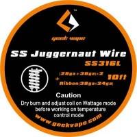 GeekVape - SS316L Juggernaut Wire (28ga+38ga)x2 + Ribbon (38ga+24ga)