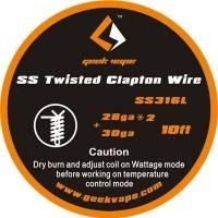 GeekVape - SS316L Twisted Clapton Wire 28ga x2 + 30ga
