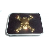 Hand Spinner Starss Skull Gold