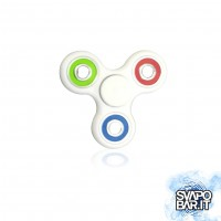 Hand Spinner - Plastic EDC White/Rainbow