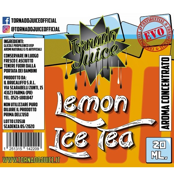 Lemon Ice Tea – EVO 0 Aroma 20 mL Tornado Juice