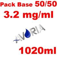 Pack Base AVORIA 1020ml - Nic 3 (1x6.0+3x8.0)