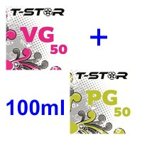 Pack T-Star 50ml VG + 50ml PG in flaconi da 115ml