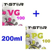 Pack T-Star 100ml VG + 100ml PG