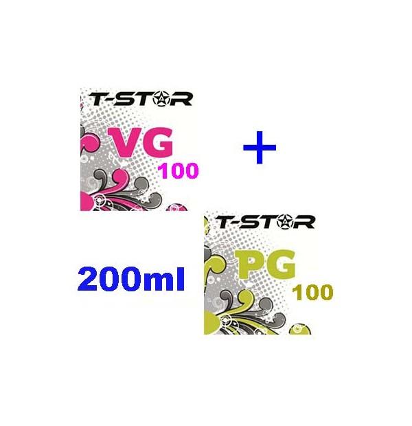 Pack T-Star 100ml VG + 100ml PG