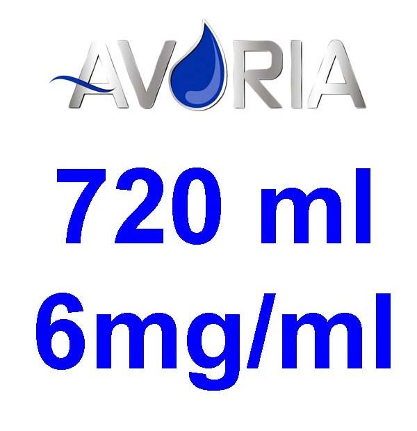 Pack Base Avoria 720ml 50/50 - 6mg/ml (250+250+22x10)