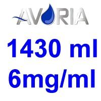 Pack Base Avoria Booster 1430ml 50/50 - 6mg/ml (500+500+43x10)