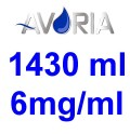 Pack Base Avoria Fusion 1430ml 50/50 - 6mg/ml (500+500+43x10)